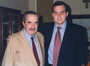 Lic. Gustavo Ick junto al Dr. Raúl Alfonsín