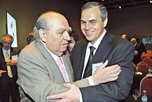 Gustavo Ick junto al ex presidente Julio María Sanguinetti