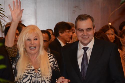 Gustavo Ick junto a Susana Gimenez